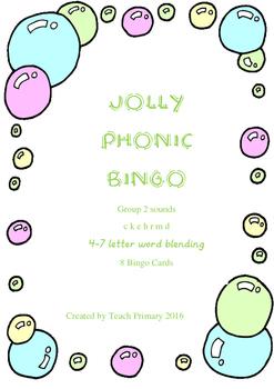 Jolly Phonics Bingo Group 2 sounds set 2