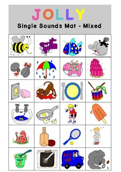 Jolly Phonics Bingo - Single Sounds Only (Graphs) - Differentiated