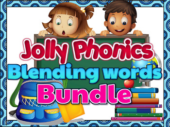 Jolly Phonics Blending Groups 1-4- BUNDLE (Animated Powerpoint)