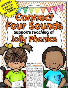 Phonics Connect Four Sounds in a Row Game