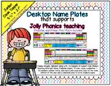 Desktop Name Plates with Phonics Sound Including Digraphs