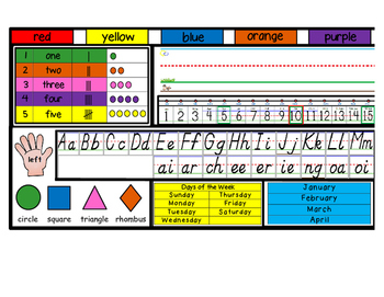 Desktop Name Plates with Phonics Sound Including Digraphs