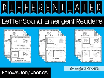 Differentiated Jolly Phonics Frieze 1-7 Letter Sound Books [123 BOOKS!]