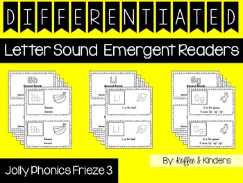 Differentiated Jolly Phonics Frieze 3 Letter Sound Emergent Readers