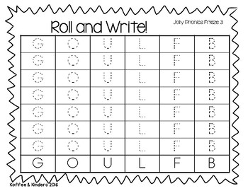 Jolly Phonics Frieze 3 Letters Roll and Write