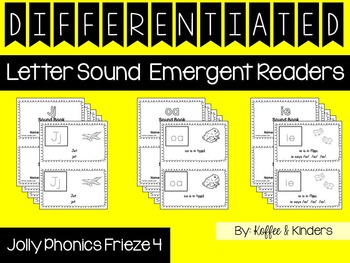 Differentiated Jolly Phonics Frieze 4 Letter Sound Readers