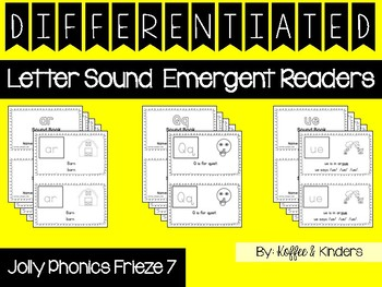 Differentiated Jolly Phonics Frieze 7 Letter Sound Readers