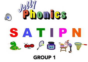 Jolly Phonics Group 1 Blending Powerpoint with AUDIO