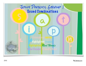 Jolly Phonics Group 1 Sound Combo Game Cards