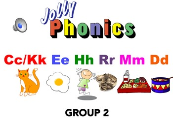 Jolly Phonics Group 2 Blending Powerpoint with AUDIO