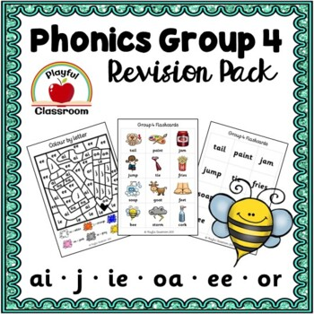 Jolly Phonics Group 4 Revision Worksheet and Activity Pack - ai j oa ie ee  or