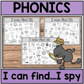 Phonics Center I Can Find I Spy Sample