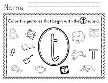 Alluring Beginning sound T Worksheets Also Letter T Worksheets ...