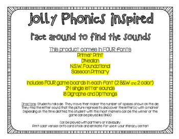 Phonics - Race Around to Find the Sound Game