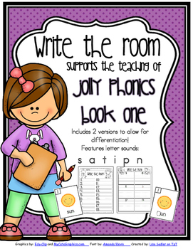 Phonics - Write the Room - Book One