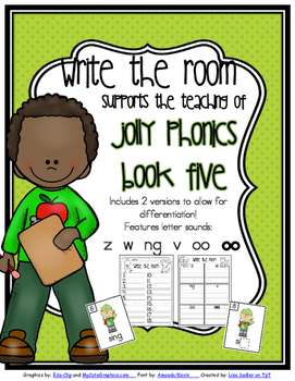 Phonics - Write the Room-  Book Five