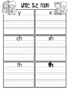 Phonics - Write the Room-  Book Six