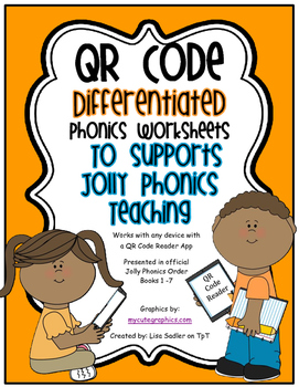 Phonics - Write the Word or Sound QR Code Worksheets