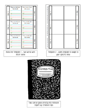 Phonics Interactive Packet or Notebook