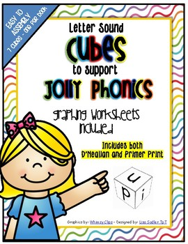Phonics Letter Sound Cubes with Graphing Activities