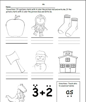Phonics Letter A worksheets
