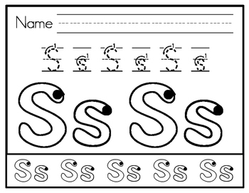Phonics Related Letter Formation Practice Sheets