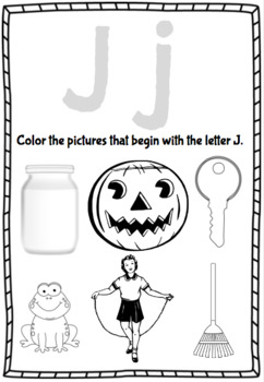 Jolly Phonics: Letter/Picture Beginning Sound Match