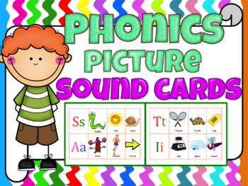 Phonics picture sound cards (Jolly Phonics or any phonics program)