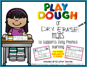 Phonics Playdough-Dry Erase  Mats