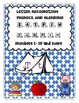 Jolly Phonics: S, a, t, p, i, n Skills Practice, Pre K, and K Math Skills!!