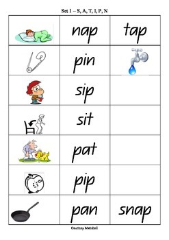 Phonics Sequence Word & Picture Match Reading Activity -Full Set!!!