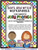 Phonics Sort and Write Worksheets