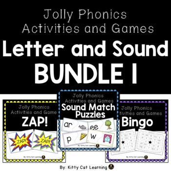 Jolly Phonics Games - Sound and Letter Practice BUNDLE!