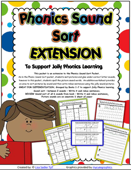 Phonics Sound Sort EXTENSION Worksheets