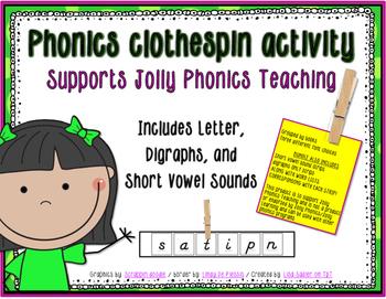 Phonics Clothespin Activity
