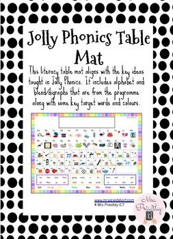 Jolly Phonics Table Mat