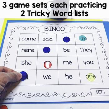 Tricky Word Games - Bingo! - Jolly Phonics Aligned
