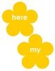 Jolly Phonics Tricky Words - Flowers