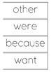 Jolly Phonics Tricky Words Flashcards