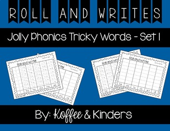 Jolly Phonics Tricky Words Roll and Write Center - Set 1
