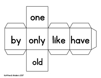 Jolly Phonics Tricky Words Roll and Write Center - Set 3