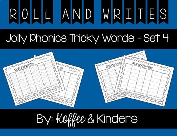 Jolly Phonics Tricky Words Roll and Write Center - Set 4