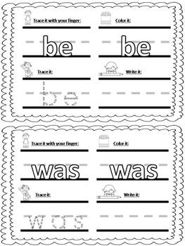 Tricky Words cards (literacy center)
