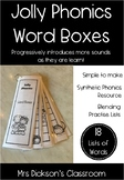 Jolly Phonics Word Boxes - Blending Practise - Synthetic Phonics Approach! -