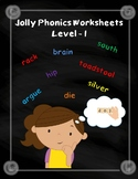 Jolly Phonics Worksheets - Level 1