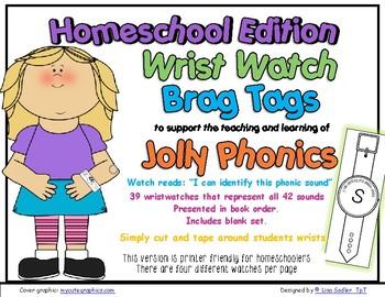 Phonics Wrist Watches-Brag Tags HOMESCHOOL EDITION