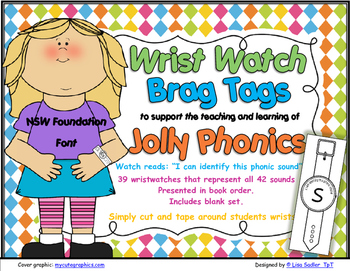 Phonics Wrist Watches-Brag Tags  -NSW Foundation Print