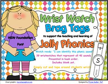 Phonics Wrist Watches-Brag Tags  -NSW Foundation Print
