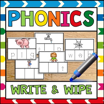 Phonics Write and Wipe CVC Sample