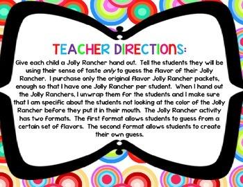 Jolly Rancher Taste Five Senses Activity